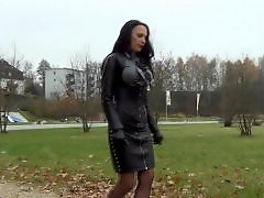 Walking, Leather, Fetish leather, Diva, In leather