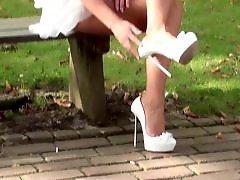 Upskirt public, Under, Public upskirt, Public dressing, High heels, Dressing b