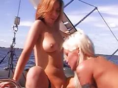 Sex boat, Enjoying tits, Bikini threesome, Boat threesome, Boat