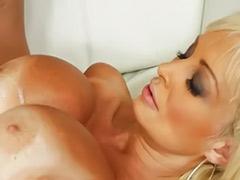 Big tits load, Big load, Big cum load, Cum on her tits, Busty blonde milf, Big cum loads