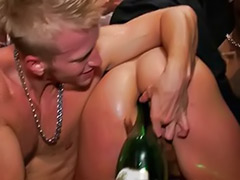 Party anal, Party cfnm blowjob, Bottl, Champagne, Party cfnm, Anal sex party