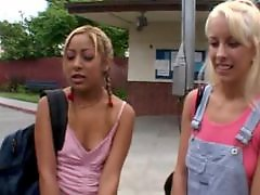 On bus, Interracial blonde teen, Interracial asian teen, Interracial asian, Hot asian, Bus teens