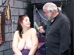 Table, Toy guy, Redhead milf, Redhead boobs, Redhead big boobs, Redhead bdsm