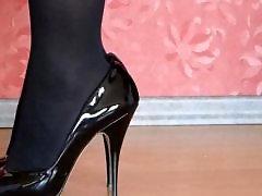 Stockings heels, Stockings amateur, High heels, High heel fetish, Heels foot, Foot heels