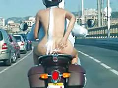 Public riding, Public naked, Naked public, Naked funny, Bike