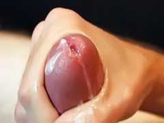 Wank with cum, Slow motion, Slow wank, Slow, Solo male cumshots, Close up solo