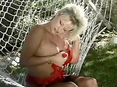 Tit fondle, Toys in pussy, Pussy play, Playing with tits, Play with pussy, Milf outdoor