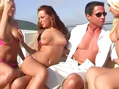 Peter north, Peter, Sex peter, Girl gangbang, Blonde, three, Bikini girls