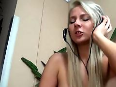 Sex handjob, Headphones, Handjob blonde, Blonde handjob, Blond handjob
