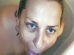Bathroom cum, Bathing, Bath blonde, Bath blowjob blonde, Bath