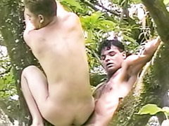 Tree anal, Tree, Outdoor wank