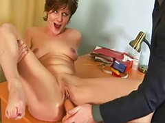 Shocking, Secretary masturbating, For job, Job interview, Fetish job, Shocked