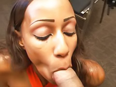 Pov interracial, Pov blow, Swallow the cock, Sexe in office, Ebony swallow, Ebony in the office