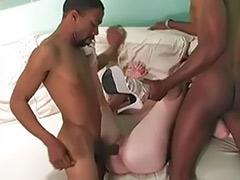 Interracial anal gangbang, Femdom sex, Femdom cuckold, Gangbang blonde, Gangbang anal, Blonde gangbang