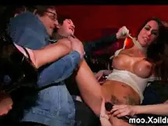 In bar, Bar, Bound gangbang, Public bar