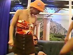 Lady b, Ladie, Facial gangbang, German facial, German cumshot, Gangbang lady