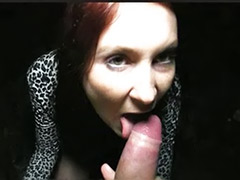 Redhead pov blowjob, Lost, Cum on my, Couple on public