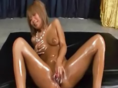 Sexy girl and girl, Oiled solo, Oiled asian, Oil solo, Oil asian, Japanese oiling solo