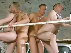 Truck, Foursome sex, Foursome anal, Foursome, Foursom, Gay truck