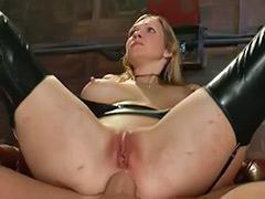 Threesome bondage, Threesome bisexual, Latex threesome, Latex strap, Latex femdom, Latex blond