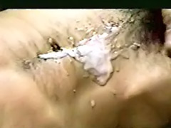 Spunk, Solo black wank, Belly cum, Cum on hair, Cum on belly, Spunked