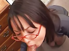 Rimjobs, Japanese rimming, Japanese rimjob, Japanese rim, Glasses blowjob, Glass japanese