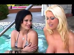 Public blonde, Pool bikini, Pool, Seducing, Seduced, Seduce