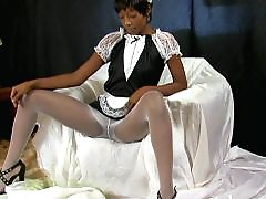 Stocking ebony, Taylor, Photos, Photo shooting, Photo shoot, Stockings maid