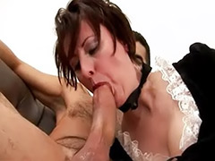 Mature lady suck, Outfit, Mature maid