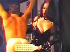 Tit spank, Latex spank, Latex slave, Latex femdom, Femdom slave, Femdom boots
