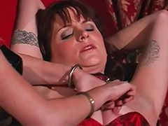 Tortures, Torture, Lingerie spank, Lingerie bondage, Lesbian latex bondage, Lesbian torture