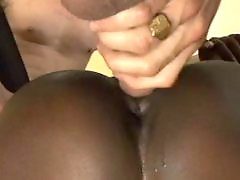 White cock, Interracial double penetration, Interracial double, Ebony threesome, Ebony white cock, Ebony white