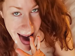 Theartofblowjob, I love cum, Cum shot facial, Loves cum