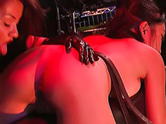Tied asian, Tied and toyed, Tied toyed asian, Lesbian fetish asian, Lesbian tied, Latex spank