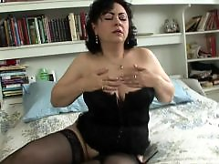 With moms, With mom, Pussy play, Pussy granny, Play with pussy, Stockings amateur