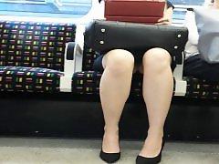 Upskirt train, Stockings upskirt, Stocking upskirt, On train, Train, Morning