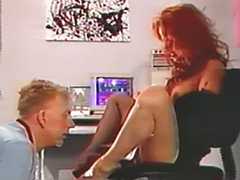 Vintage stockings, Vintage fetish, Redhead stockings, Femdom foot fetish, Femdom foot, Femdom couple