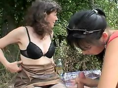 Teens old, Teen old, Teen couple, Teen with old, Matures outdoor, Mature, outdoor