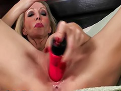 Red dildo, Red mature, Solo milf dildo, Solo mature anal, Nice anal, Milf solo anal