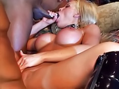 Stretching, Stretch, Interracial bbc, Double anal interracial, Busty double, Busty blonde masturbation