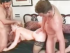Vintage stockings, Vintage double anal, Vintage double, Vintage anal threesome, Sexy double, Double vintage
