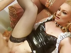 Uniform stockings, Stockings maid, Shaved pee, Maid sex, Maid double anal, Maid double