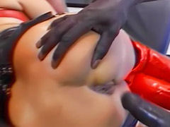 Pervert, Masturbation in boots, Latex threesome, Latex fuck, Latex double anal, Latex blond