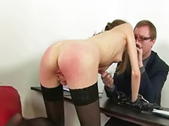 Punishments, Punishment spanking, Spanking stockings, Secretarys, Secretary masturbating, Secretary stockings