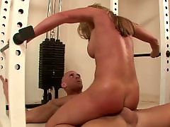 Fucking blondes, Gym, At l, Gym fuck