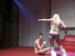 Public fingering, Public blonde, Strippers, Stripper, Blond finger