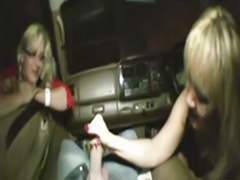 Milf masturbating car, In the car, In a car, In car, Handjob in car, Handjob car