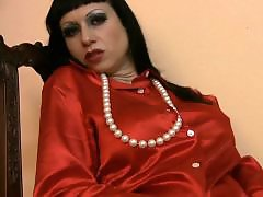 Talks, Talking, Talked, Satin, Mistress t masturbation, Mistress dirty