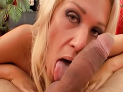 Wife pov, Wife cock, Pov blowjob cum in mouth, Pov blonde milf, Stockings milf cum, Shot mouth