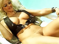 Perfect milf, Perfect masturbating, Perfect tits, Pool tit, Milf outdoor, Titwank